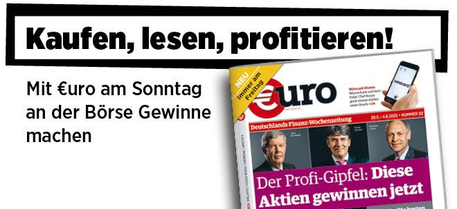 Jetzt immer freitags: Neue Ausgabe von €uro am Sonntag: Profi-Gipfel der Vermögensverwalter - Diese Aktien gewinnen jetzt! | Nachricht | finanzen.net