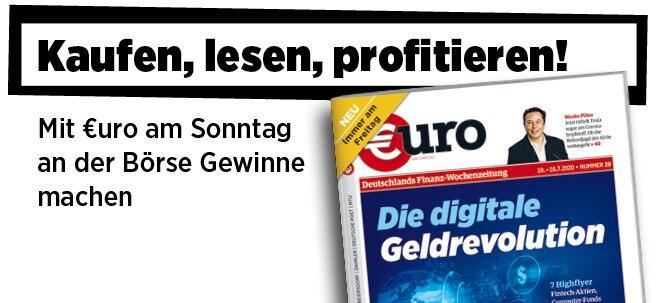 Jetzt immer freitags: Neue Ausgabe von €uro am Sonntag: Die digitale Geldrevolution: 7 Fintech-Highflyer   Nachricht   finanzen.net