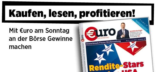 Hier steht alles drin!: Neue Ausgabe von €uro am Sonntag: 12 Rendite-Stars aus den USA für die Rekordrally | Nachricht | finanzen.net