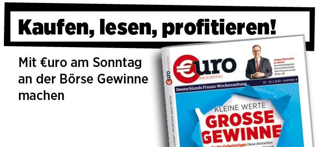 Hier steht alles drin!: Neue Ausgabe von €uro am Sonntag: Sechs Geheimtipps - Diese deutschen Nebenwerte stehen vor dem Durchbruch | Nachricht | finanzen.net