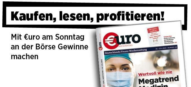 Hier steht alles drin!: Neue Ausgabe von €uro am Sonntag: Megatrend Medizin - Diese Titel gehören ins Depot | Nachricht | finanzen.net