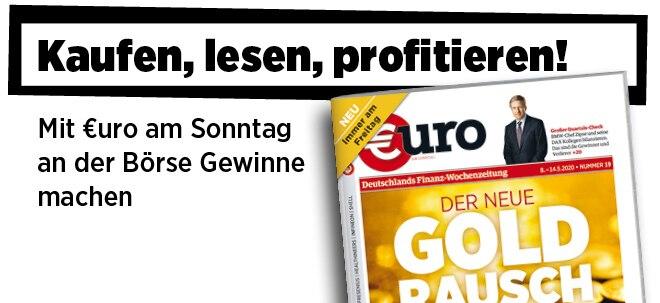 Jetzt immer freitags: Neue Ausgabe von €uro am Sonntag: Der neue Goldrausch: Die Gründe, die Kursziele, die Top-Investments   Nachricht   finanzen.net