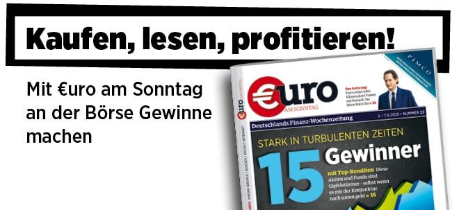 Pflichtblatt für Ihr Geld!: Neue Ausgabe von €uro am Sonntag: Stark in turbulenten Zeiten - 15 Gewinner mit Top-Renditen | Nachricht | finanzen.net