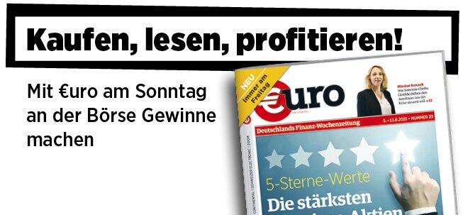 Jetzt immer freitags: Neue Ausgabe von €uro am Sonntag: Exzellente Gewinnaussichten - Das sind die 8 stärksten Premium-Aktien   Nachricht   finanzen.net