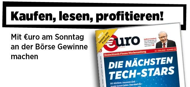 Jetzt immer freitags: Neue Ausgabe von €uro am Sonntag: Tech-Stars - Das sind die 10 kommenden Überflieger | Nachricht | finanzen.net