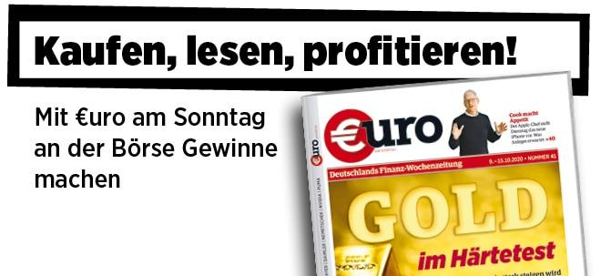 Jetzt immer freitags: Neue Ausgabe von €uro am Sonntag: Gold im Härtetest - Wieso der Goldpreis stark steigen wird | Nachricht | finanzen.net