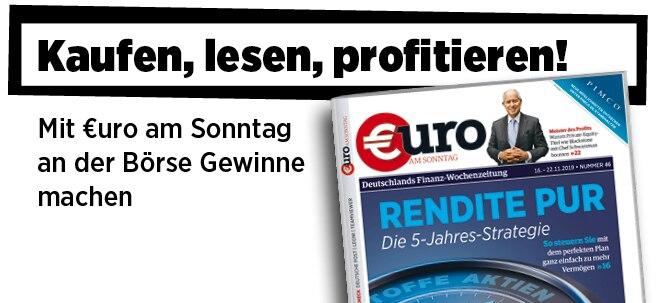 Hier steht alles drin!: Neue Ausgabe von €uro am Sonntag: Die 5-Jahres-Strategie: So gibt's Rendite pur | Nachricht | finanzen.net