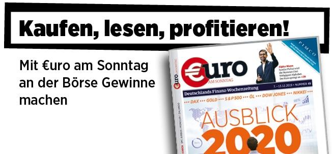 Hier steht alles drin!: Neue Ausgabe von €uro am Sonntag: Ausblick 2020: Die Prognosen der Experten | Nachricht | finanzen.net