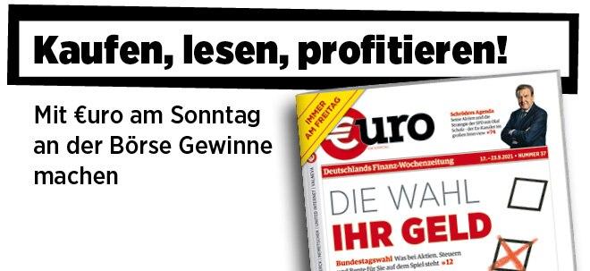 Freitags neu im Handel: Neue Ausgabe von €uro am Sonntag: Bundestagswahl - Was die Parteien bei Steuern, Rente, Wohnen und Aktien vorhaben | Nachricht | finanzen.net