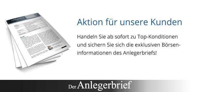 Nur für kurze Zeit: Anlegerbrief-Abo im Wert von 159 € geschenkt
