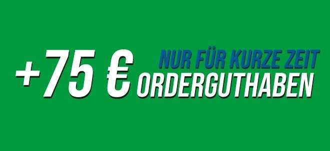 Nur für kurze Zeit: 75 Euro Orderguthaben geschenkt | Nachricht | finanzen.net