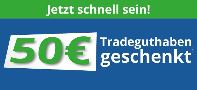 50 € Tradeguthaben geschenkt - jetzt schnell sein 1   Nachricht   finanzen.net