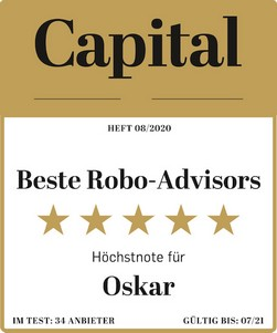 Test-Siegel: bester Robo-Advisor mit Note sehr gut