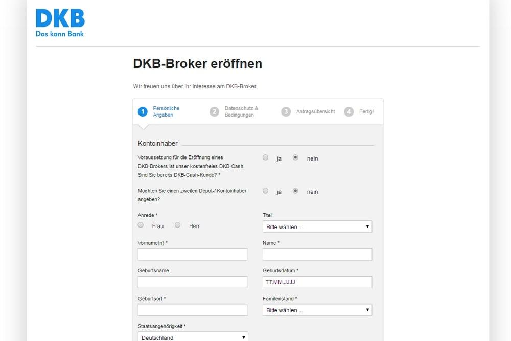DKB Broker: Depot eröffnen