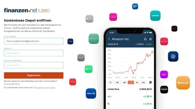 finanzen.net zero Depot eröffnen