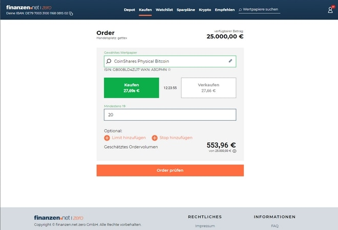 finanzen.net zero Banking Software