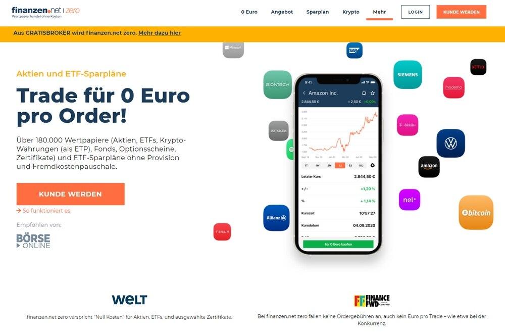finanzen.net zero Test und Erfahrungen