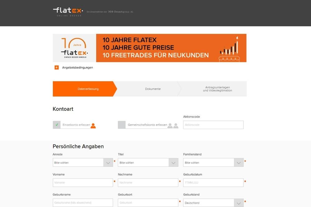 flatex konto eröffnen
