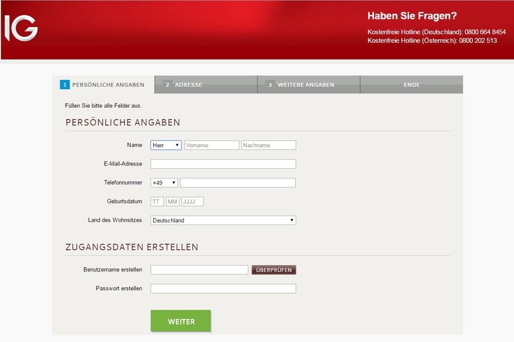 Online broker test depot