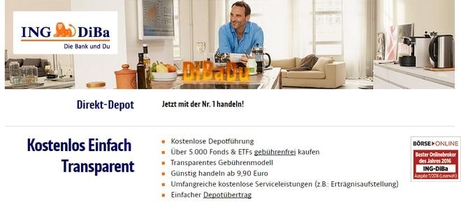 ING Deutschland Depot Test und Erfahrungen