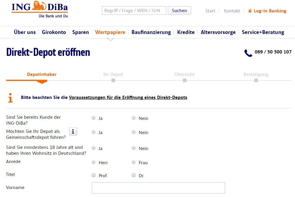 Ing Diba Aktien Gebühren