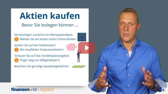 Video: Aktien kaufen in 3 Schritten - Depot-Vergleich, Depot eröffnen und Aktienkauf [Praxis-Video]