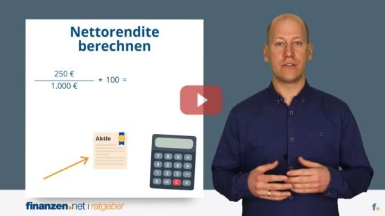Praxisvideo: Rendite berechnen - Aktien-Rendite und Rendite von ETFs mit Renditeformel berechnen