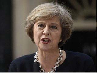 : Theresa May is being advised to fine Facebook, Google, and Twitter over their abusive content (GOOG, FB, TWTR)