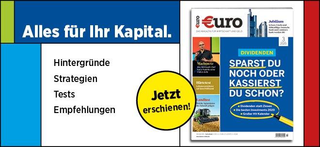 Jetzt im Handel!: Neues €uro Magazin: Dividenden - Sparst du noch oder kassierst du schon? | Nachricht | finanzen.net