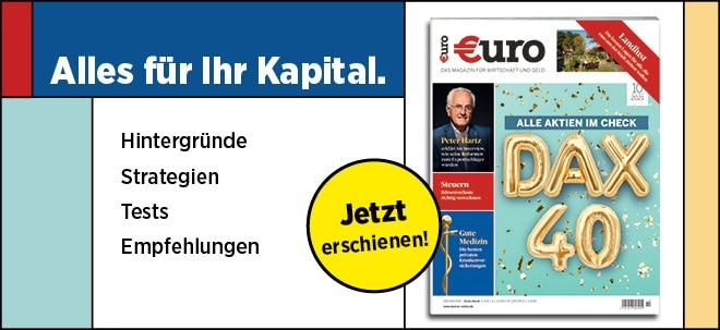 Jetzt wieder neu im Handel: Neues €uro Magazin: DAX 40 - alle Aktien im Check | Nachricht | finanzen.net