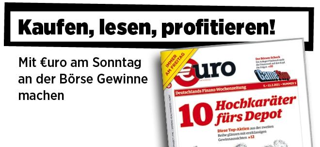Jetzt immer freitags: Neue Ausgabe von €uro am Sonntag: Kleine Champions, große Chancen - 10 Hochkaräter fürs Depot | Nachricht | finanzen.net