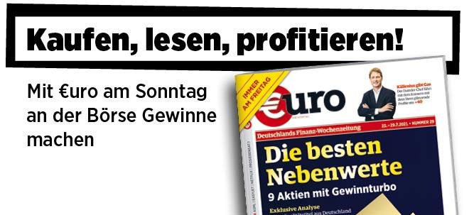 Jetzt immer freitags: Neue Ausgabe von €uro am Sonntag: Die besten Nebenwerte: 9 Aktien mit Gewinnturbo | Nachricht | finanzen.net