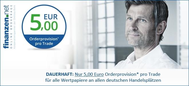 Handeln für nur 5 Euro Orderprovision pro Trade | Nachricht | finanzen.net