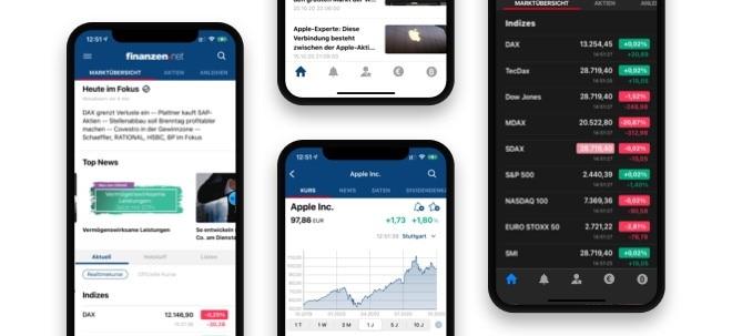 finanzen.net für unterwegs: Neues Update macht die finanzen.net-App für iOS noch übersichtlicher und individueller | Nachricht | finanzen.net