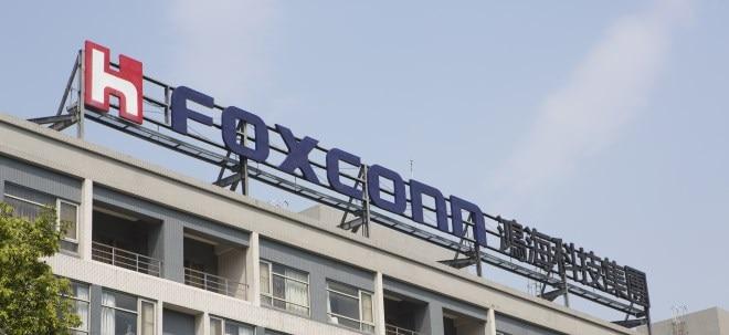Höher als erwartet: Foxconn-Aktie legt dennoch zu: Apple-Lieferant Foxconn verdient weniger | Nachricht | finanzen.net