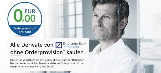 Über 150.000 Anlage- und Hebelprodukte der Deutschen Bank ohne Orderprovision kaufen | Nachricht | finanzen.net