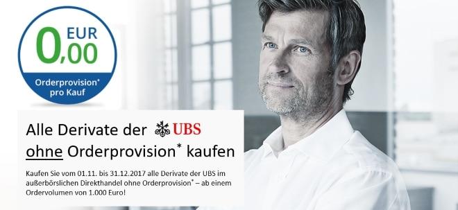 Rund 115.000 Anlage- und Hebelprodukte der UBS ohne Orderprovision* kaufen | Nachricht | finanzen.net