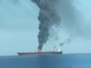 : Oil is surging after a suspected torpedo attack on 2 tankers in the Gulf of Oman