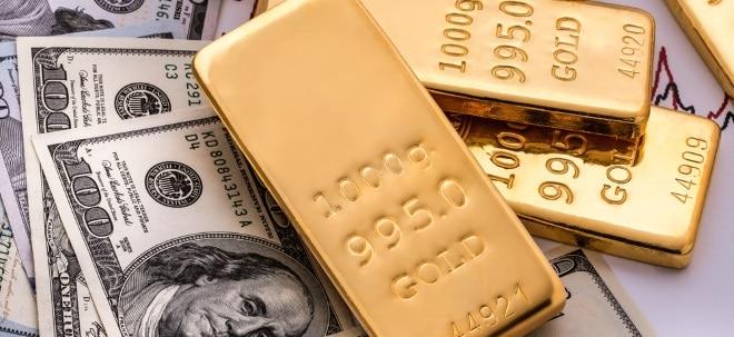 Gold und Rohöl: Gold: Starker Dollar zwingt Krisenschutz in die Defensive | Nachricht | finanzen.net