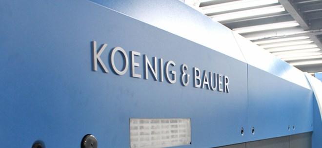Zurückhaltung: Koenig & Bauer-Aktie springt hoch: Koenig & Bauer erholt sich weiter von der Krise | Nachricht | finanzen.net