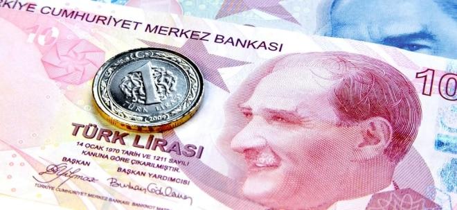 Erneute Kursverluste: Türkische Lira trotz Zinserhöhung wieder auf Talfahrt | Nachricht | finanzen.net