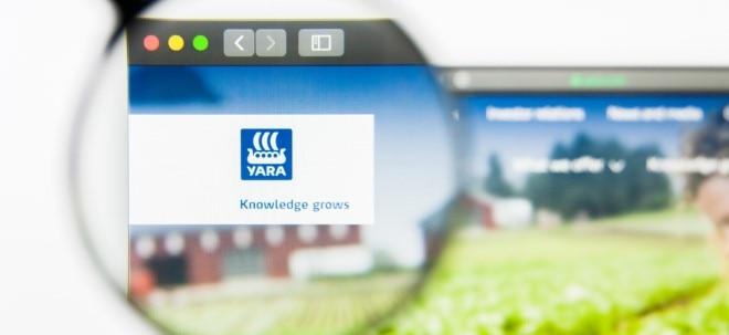 Rohstoffkosten kompensiert: K+S-Konkurrent Yara legt dank höherer Preise kräftig zu - Yara-Aktie fällt | Nachricht | finanzen.net